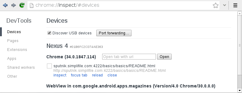 USB Debugging | Down and Dirty with Chrome Developer Tools