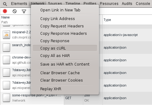 Copy Request Data | Down and Dirty with Chrome Developer Tools
